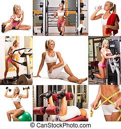 fitness, montage