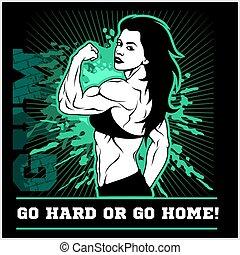 fitness., motivation, -, illustration, inspirationnel