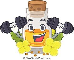 Fitness mustard oil packaged in carton bottle