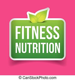 Fitness Nutrition vector sign