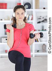 fitness, och, musik