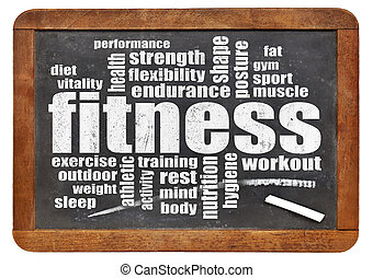 fitness, ord, moln