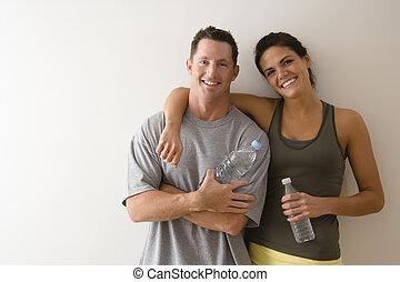 fitness, paar
