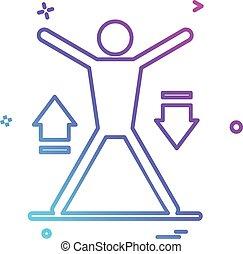fitness, pictogram, ontwerp, vector