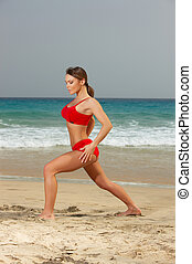 fitness, plage