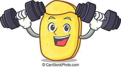 Fitness potato chips character cartoon