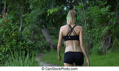 Fitness pretty blonde woman