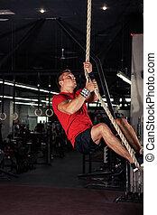 Fitness rope climb cxercise
