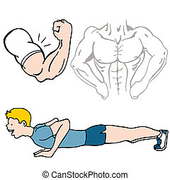 Fitness Set - An image of a fitness set of images.