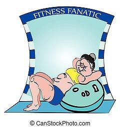 fitness, sit ups