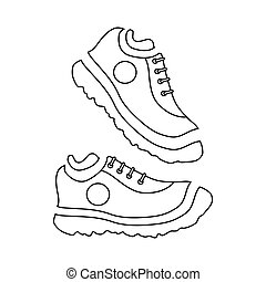 Fitness sneakers icon, outline style