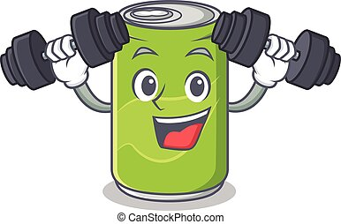 Fitness soft drink character cartoon vector illustration