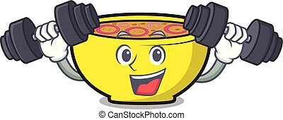 Fitness soup union character cartoon