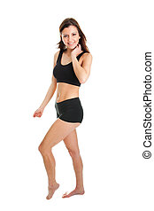 fitness, sourire, femmes