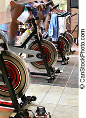 fitness spinning bike - Fitness centre, health bikes, ...