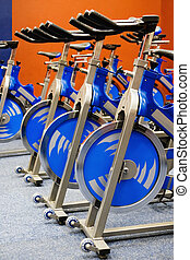 fitness spinning bike - Fitness centre spinning studio, few ...
