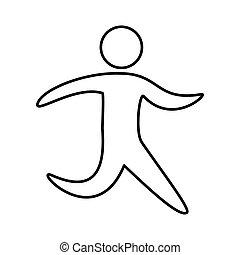 fitness sport athlete silhouette