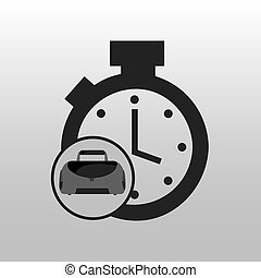 fitness sport bag icon chronometer