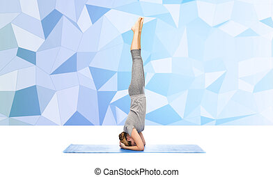 woman headstand stock photo images 650 woman headstand