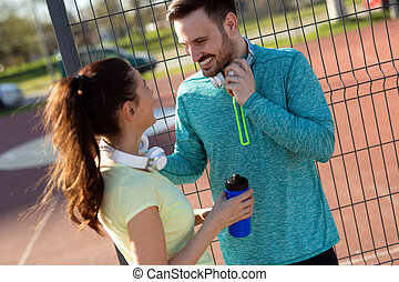 fitness, sport, people and lifestyle concept