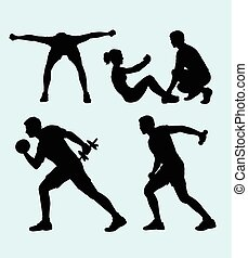 Fitness sport silhouette