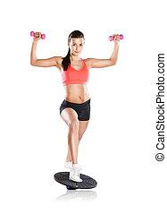 fitness, stående