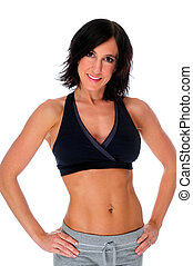 Fitness - Beautiful Young Woman Posing In Her Fitness...