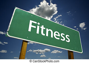 fitness, straße zeichen