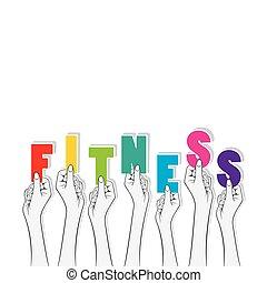 fitness text banner design