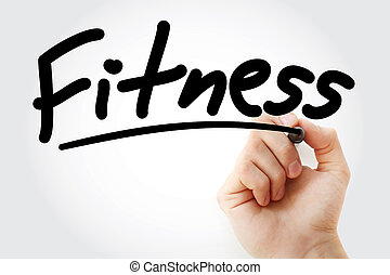Fitness text with marker