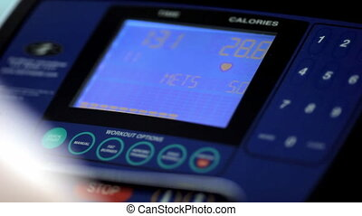 fitness: the screen of the simulator