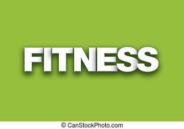 fitness, thema, wort, kunst, auf, bunte, hintergrund