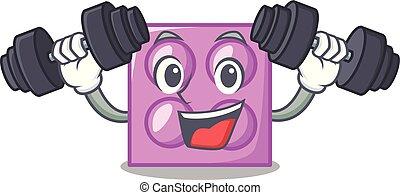 Fitness toy brick character cartoon