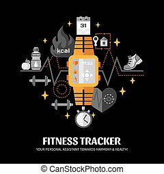 Fitness Tracker Illustration