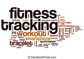 Fitness tracking word cloud