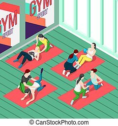 Fitness Trainers Isometric Background