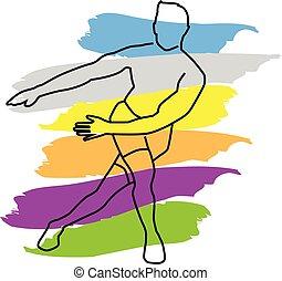 fitness, vecteur, coloré, fond, sports