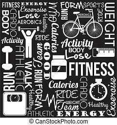 fitness, vecteur