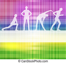 Fitness vector background