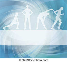 Fitness vector background for poster