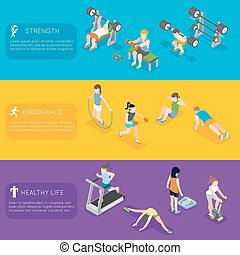 Fitness vector banners