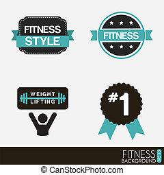 fitness, vektor