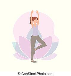 fitness, vrouw, oefening, activiteit