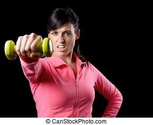 fitness, vrouw, opleiding