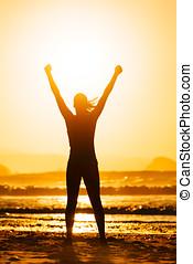 fitness, vrouw, succes