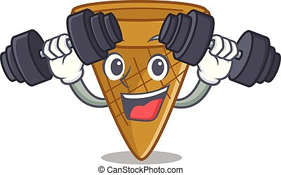 Fitness wafer cone character cartoon