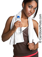 fitness, wasser, frau