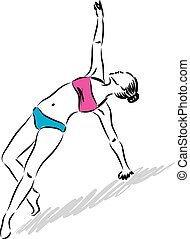 fitness woman body illustration