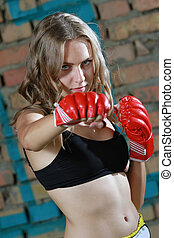 fitness woman boxing