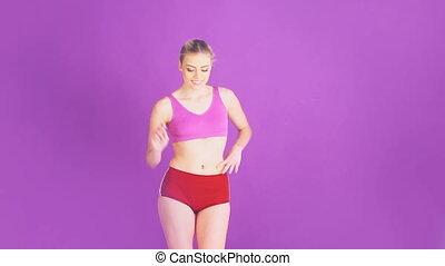 fitness woman dancing
